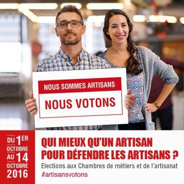 Elections des Chambres de Métiers et de l'Artisanat