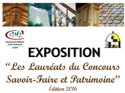 EXPOSITION Les Lauréats du Concours Savoir-Faire et Patrimoine
