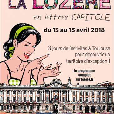 La Lozère à Toulouse du 13 au 15 AVRIL 2018
