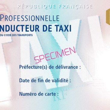 Conducteur de taxi : Arrêté du 28 juin 2018 relatif aux cartes professionnelles