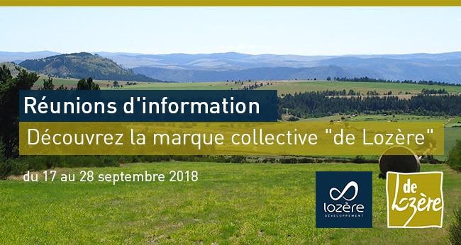 """Découvrez la marque collective """"de Lozère"""" du 17 au 28 septembre 2018"""
