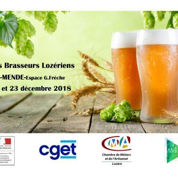 Les Brasseurs Lozériens sur le stand du marché de noël à Mende les 22 et 23 décembre 2018