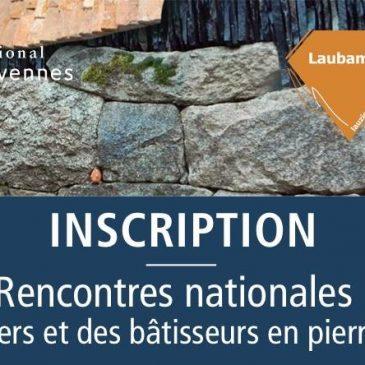 Inscriptions ouvertes ! Colloque 4 et 5 avril 2019 Rencontres nationales de la lauze et de la pierre sèche