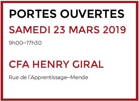 Portes ouvertes CFA HENRY GIRAL 23/03/19
