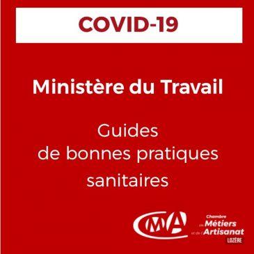 COVID-19 Ministère du Travail [guides de bonnes pratiques sanitaires]