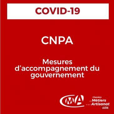 COVID-19 CNPA : mesures d'accompagnement du gouvernement