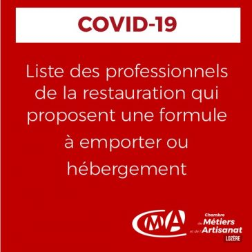 COVID19_Liste professionnels restauration_vente à emporter_UMIH