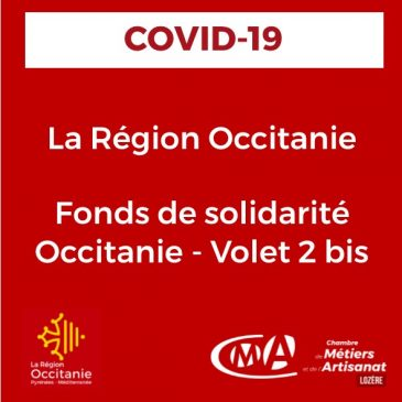COVID19_Fonds de solidarité Occitanie – Volet 2 bis