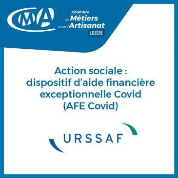 URSSAF : Action sociale : dispositif d'aide financière exceptionnelle Covid (AFE Covid)
