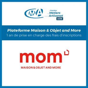 Plateforme Maison & Objet and More_1 an de prise en charge des frais d'inscriptions