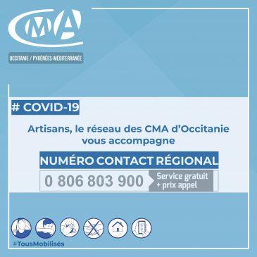 COVID19 – La CMAR Occitanie réactive son numéro d'urgence pour les artisans