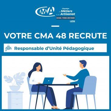 Votre CMA Recrute_Responsable d'unité pédagogique