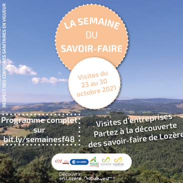 LA SEMAINE DU SAVOIR-FAIRE : VISITES D'ENTREPRISES 2021