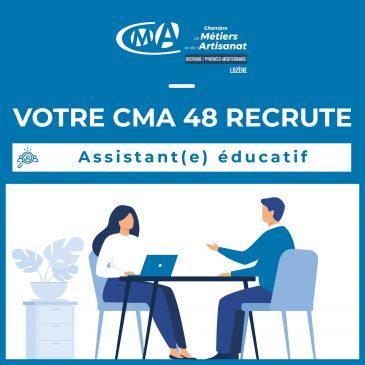 VOTRE CMA RECRUTE _ Assistant(e) éducatif